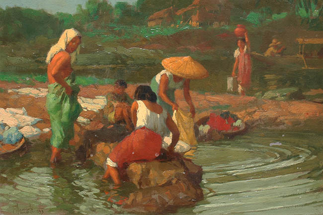 Fernando Amorsolo - Women Washing, 1933